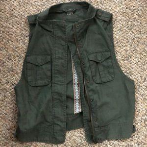 Aeropostale Olive Military Vest